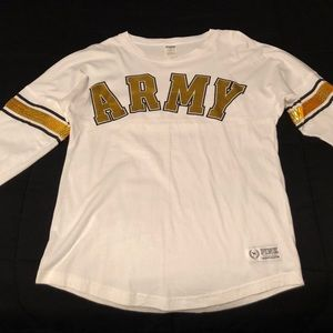 PINK jersey shirt with ARMY logo